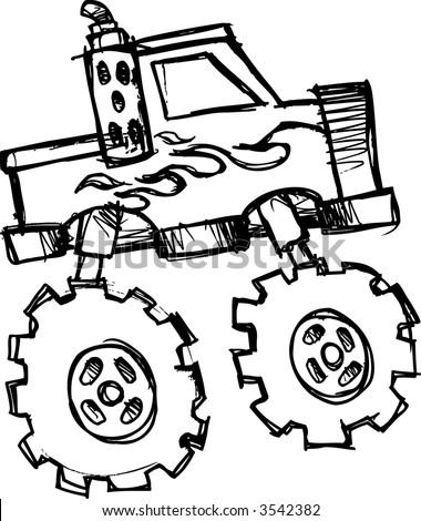 Monster Truck Clip Art Black And Whiteon Pickup Trucks Vehicle