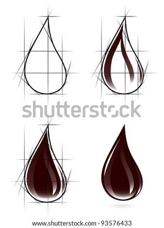 Sketch of oil drop