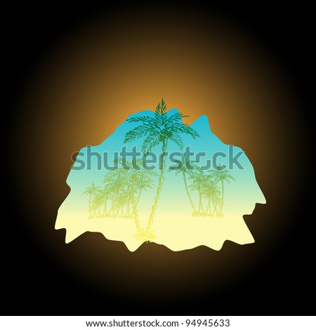 sketch of palms from the cave