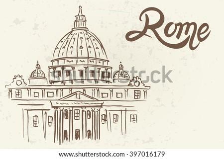 sketch of st. peter's basilica...