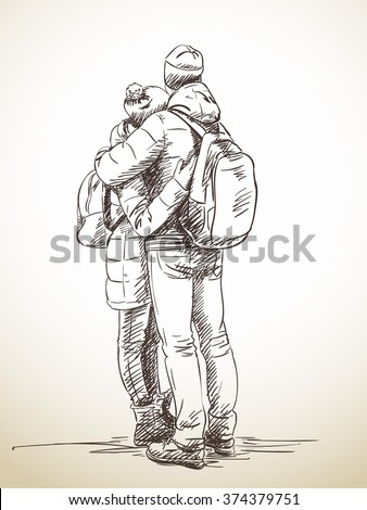 Sketches Of Couples Hugging Download Sketch Couple...