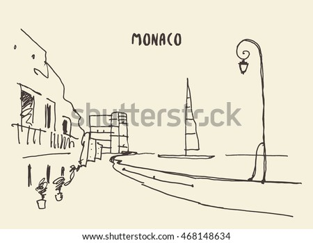 sketch of streets in monaco
