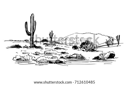 sketch of the desert of south
