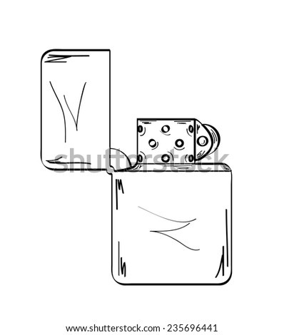 sketch of the lighter on white