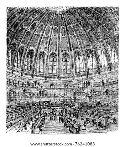 sketch of the reading room in