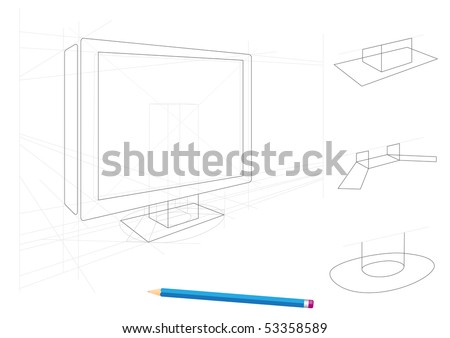 flat screen monitor message with Stock Vector Sketch Of Tv And Holders Drawn By A Pencil Isolated On White on Multimedia Vector Icons Set Thin Line 704115892 as well Stock Vector Sketch Of Tv And Holders Drawn By A Pencil Isolated On White as well puter Keyboard Cartoon likewise Stock Vector Realistic Tv Screen Lcd Monitor Laptop And Tablet And Mobile Phone Templates Set  puter And besides Courier object.