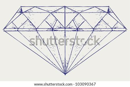 Diamond Pencil Drawing