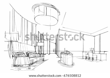 sketch perspective interior