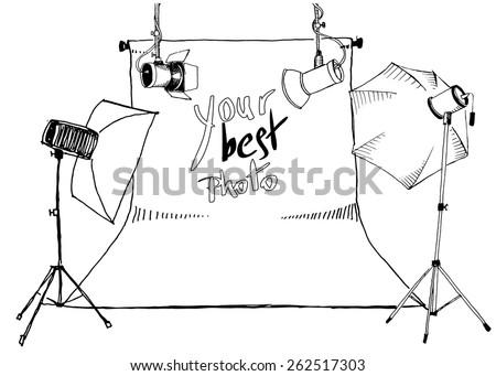 sketch  photo studio lamps