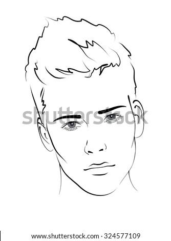sketch portrait of a handsome