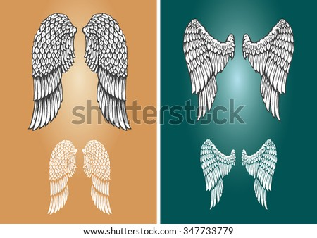 sketch wings set   vectorized