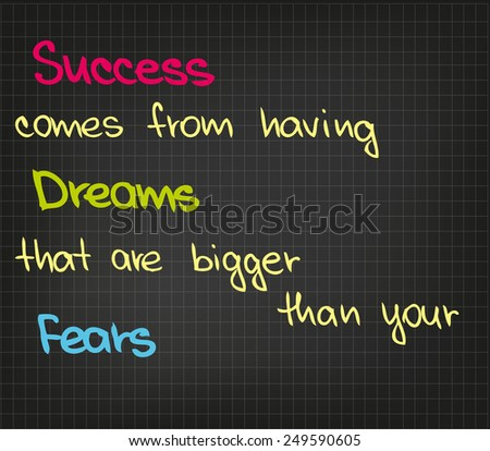 sketch words of success dreams