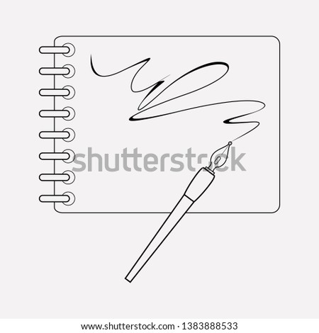 Sketchbook icon line element. Vector illustration of sketchbook icon line isolated on clean background for your web mobile app logo design.