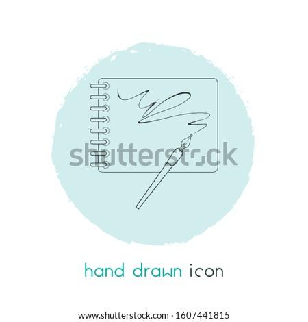 Sketchbook icon line element. Vector illustration of sketchbook icon line isolated on clean background for your web mobile app logo design.