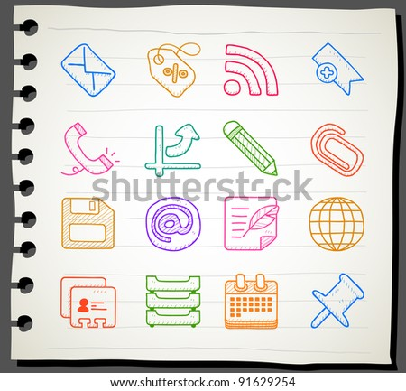 Sketchbook series | business,office,internet icon set