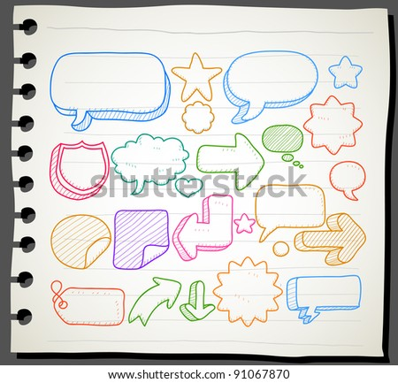 Sketchbook series | communication, speech bubbles collection