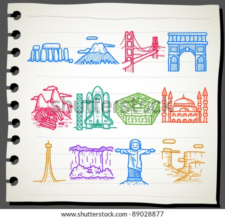 sketchbook  series    landmarks
