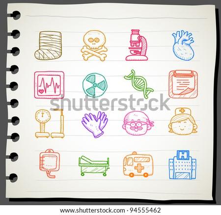Sketchbook series |  medical icon set
