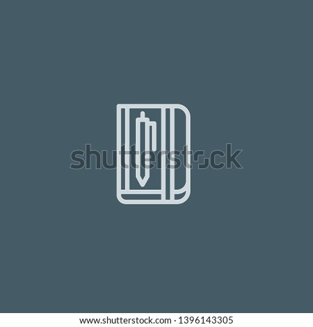 Sketchbook vector icon. Sketchbook concept stroke symbol design. Thin graphic elements vector illustration, outline pattern for your web site design, logo, UI. EPS 10.