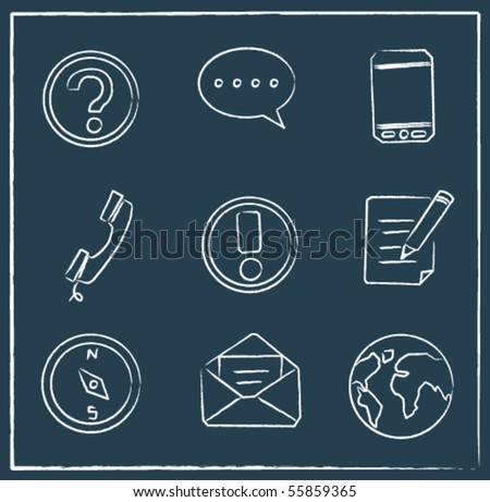 sketched communication icons
