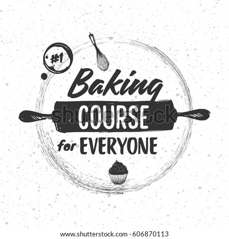 Sketched elements of baking and cooking tools
