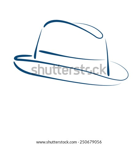 Eagle Eye Adventures - Sketched man\'s fedora trilby hat isolated on ...