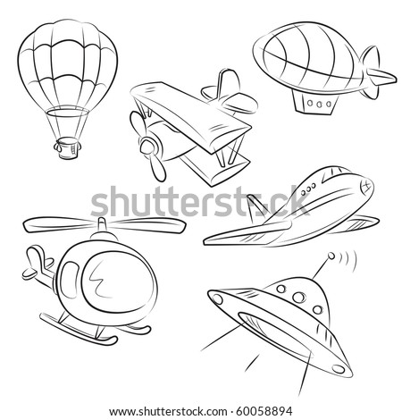 sketched types of air transport