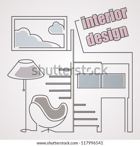 sketching interior design