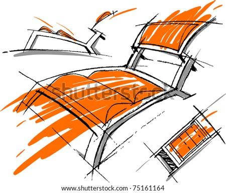 sketchs of ferniture. design work