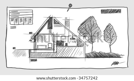 Blueprint vector elements download free vector art stock graphics sketchy blueprint vector illustration malvernweather Image collections