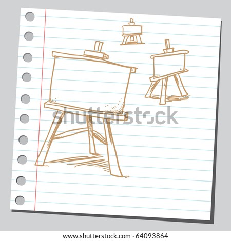 Sketchy easel boards
