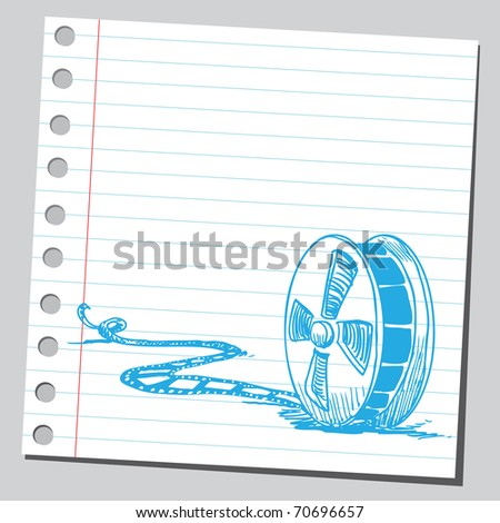 Sketchy illustration of a movie tape