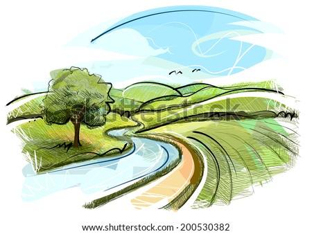 Sketchy Landscape