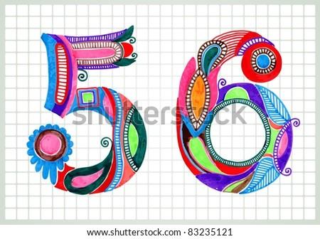 sketchy numbers vector
