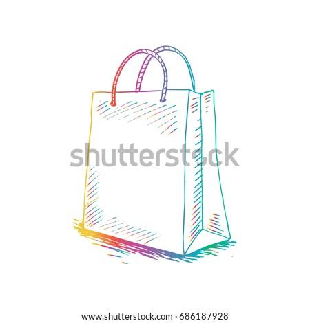 Sketchy of shopping bag.