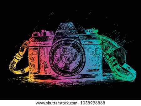 Sketchy Of Vintage Camera