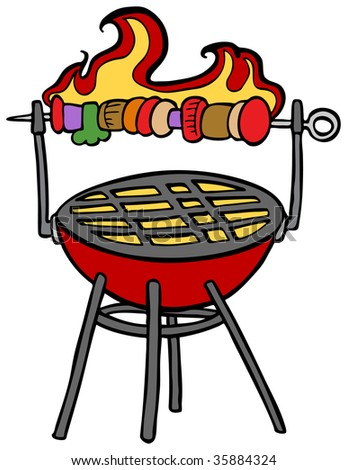BBQ Chicken Cartoon http://www.shutterstock.com/pic-35884324/stock-vector-skewer-barbecue-cartoon.html