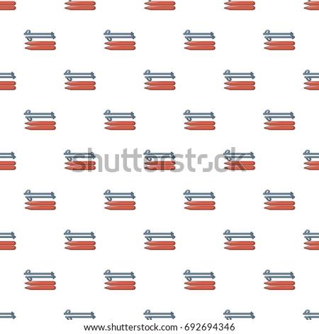 ski and sticks pattern in