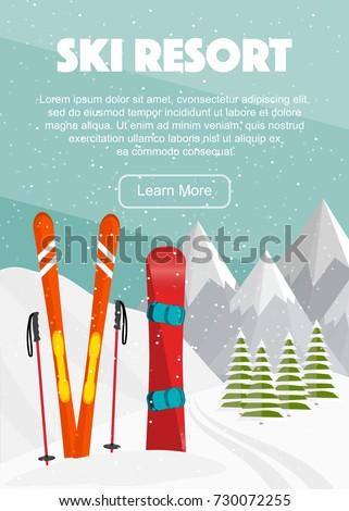 ski equipment  snowboard  trail
