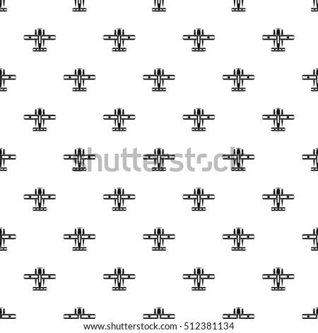 ski equipped airplane pattern