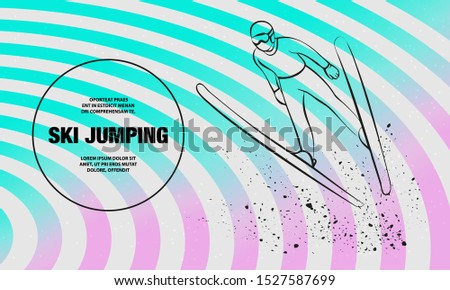 ski jumping athlete in fly