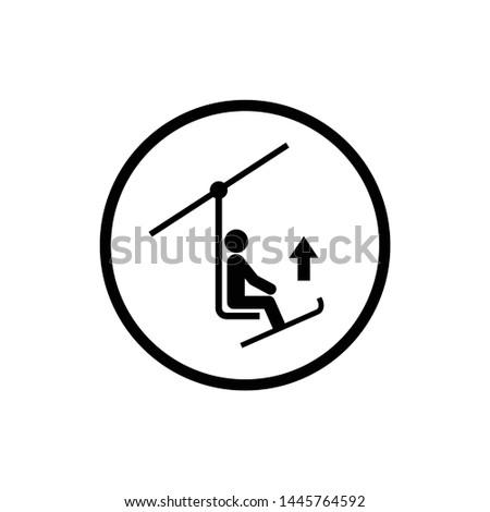 Ski lift , Ski chair lift , sign