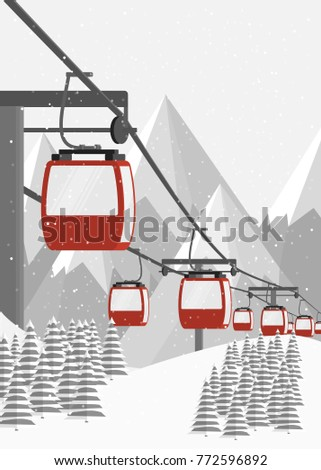 ski resort  aerial lift flat