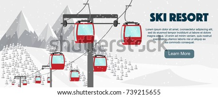 ski resort  aerial lift flat