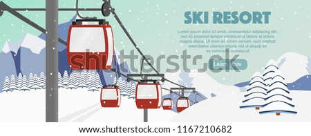 ski resort season opening flyer