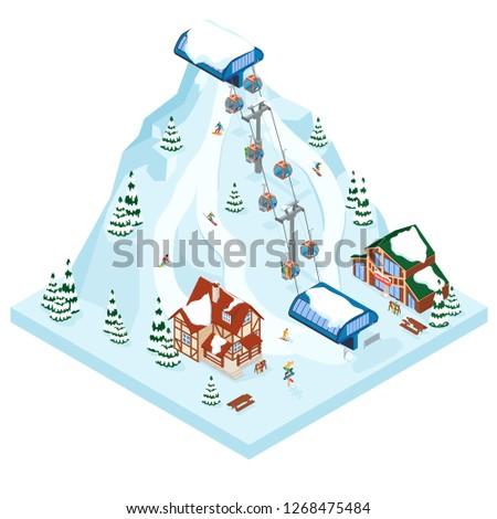 ski resort vacation gondola way