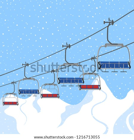 ski resort vacation  ski lift