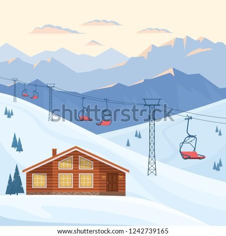 ski resort with chair lift