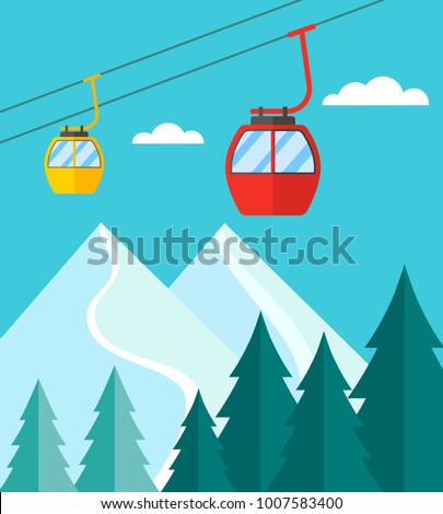 ski season in the winter alps