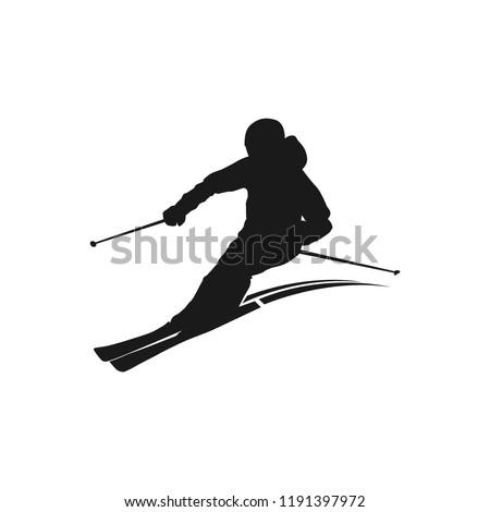 ski silhouette design